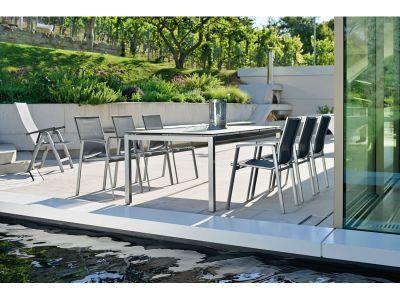Stern Tischsystem: Alu Tischgestell 130 x 80 cm graphit + freiwählbare Tischplatte