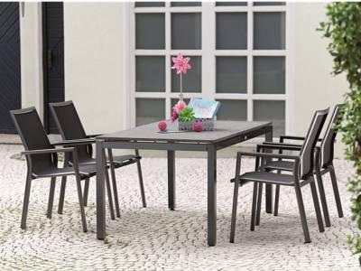 Stern Tischsystem: Alu Tischgestell 160 x 90 cm anthrazit + freiwählbare Tischplatte