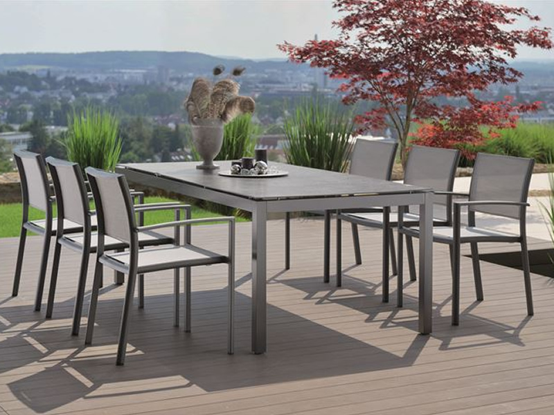 stern tischsystem alu tischgestell 200 x 100 cm anthrazit freiw hlbare tischplatte. Black Bedroom Furniture Sets. Home Design Ideas