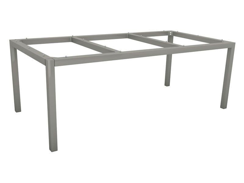 Stern Tischsystem: Alu Tischgestell 200 x 100 cm graphit + ...