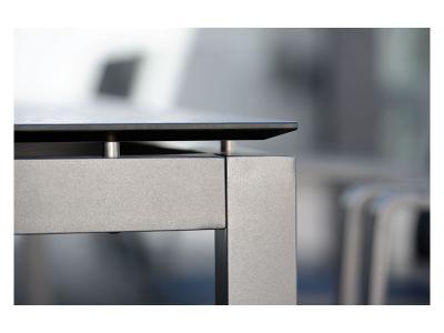 Stern Tischsystem: Alu Tischgestell 200 x 100 cm graphit + freiwählbare Tischplatte