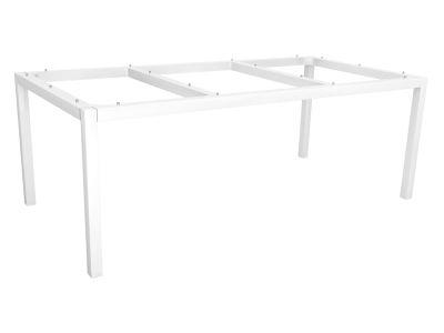 Stern Tischsystem: Alu Tischgestell 200 x 100 cm weiß + freiwählbare Tischplatte