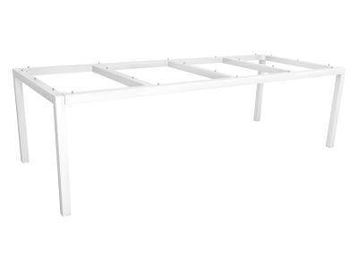 Stern Tischsystem: Alu Tischgestell 250 x 100 cm weiß + freiwählbare Tischplatte