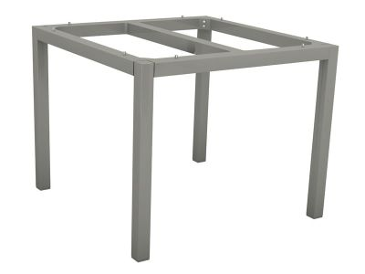 Stern Tischsystem: Alu Tischgestell 80 x 80 cm graphit + freiwählbare Tischplatte