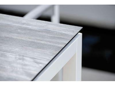 Stern Tischsystem: Alu Tischgestell 80 x 80 cm weiß + freiwählbare Tischplatte