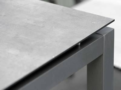 Stern Tischsystem: Alu Tischgestell 90 x 90 cm anthrazit + freiwählbare Tischplatte
