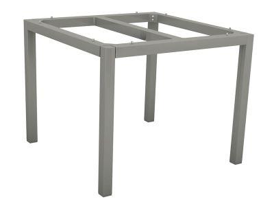 Stern Tischsystem: Alu Tischgestell 90 x 90 cm graphit + freiwählbare Tischplatte