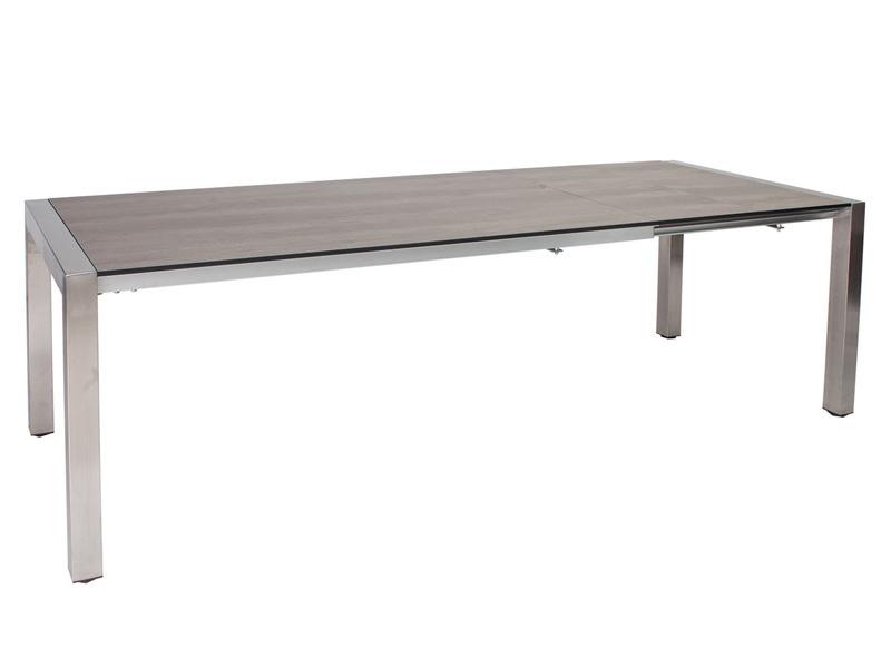Stern Tischsystem Ausziehtisch Edelstahl, Quadrat U-Bügel 174 (254) x 90 x 75 cm