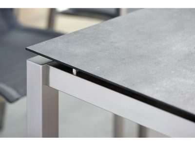 Stern Tischsystem: Edelstahl Tischgestell 130 x 80 cm + freiwählbare Tischplatte