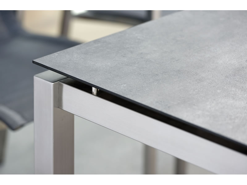 stern tischsystem edelstahl tischgestell 200 x 100 cm freiw hlbare tischplatte gartenm bel. Black Bedroom Furniture Sets. Home Design Ideas