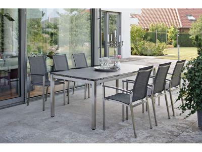 Stern Tischsystem: Edelstahl Tischgestell 200 x 100 cm + freiwählbare Tischplatte