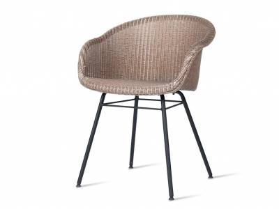 Vincent Sheppard Avril Dining Stuhl, steel a base, schwarz