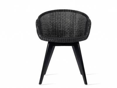 Vincent Sheppard Avril Dining Stuhl, wood base, schwarz