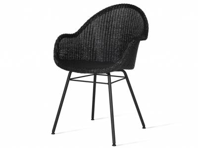 Vincent Sheppard Avril HB Dining Stuhl, steel a base, schwarz