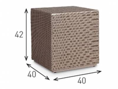 Vincent Sheppard Cube Ottoman/Side Table