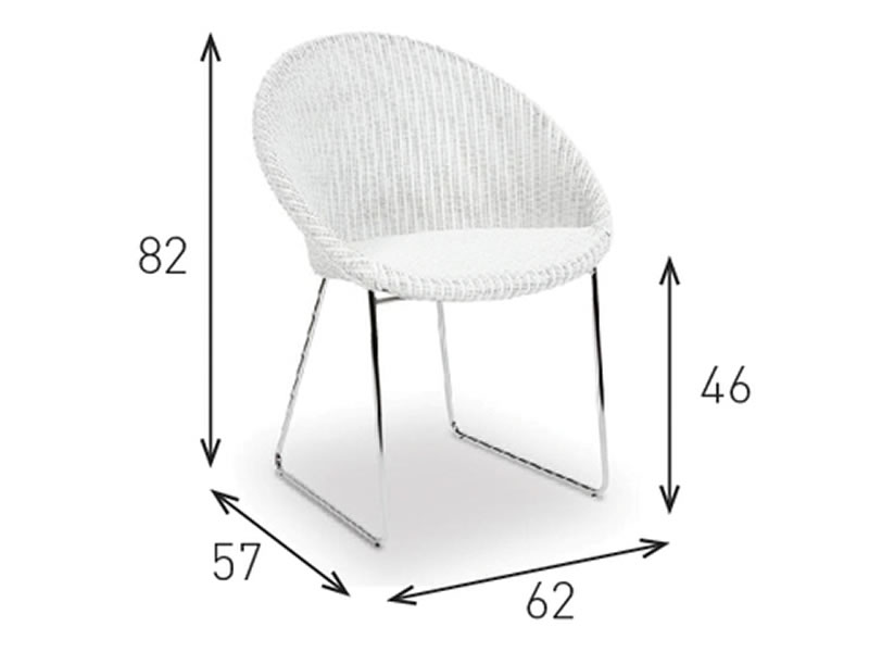 vincent sheppard esszimmerstuhl joe stuhl white frame. Black Bedroom Furniture Sets. Home Design Ideas
