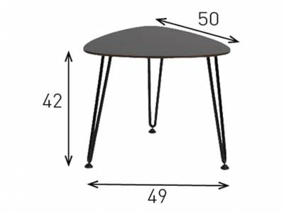 Vincent Sheppard Side & Coffee Tables, Rozy Table S, Beistelltisch black