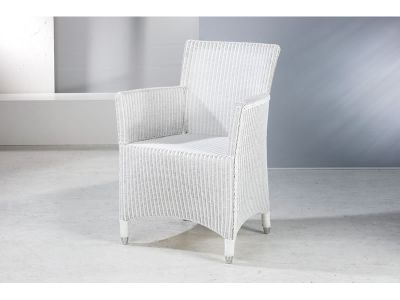 "Welzel Loom Sessel ""Leo"", super-white"