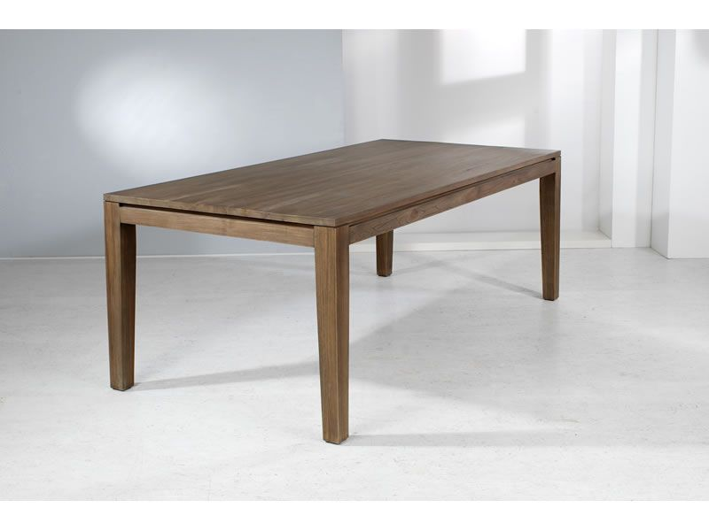 "Welzel Teakholz-Tisch ""Panama"", braun - 100 x 100 cm"