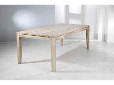 """Welzel Teakholz-Tisch """"Panama"""", weiß gewaschen - 100 x 100 cm"""
