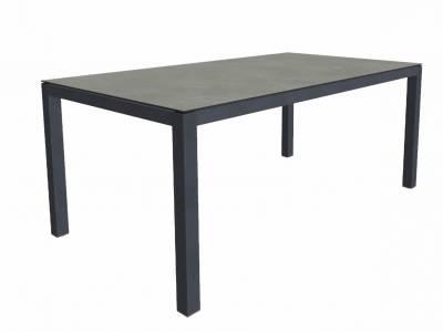 ZEBRA Alus, Tischgestell Aluminium graphite mit Platte 180x100 cm