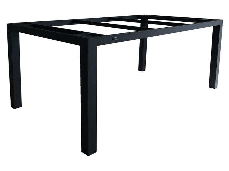 ZEBRA Alus, Tischgestell Aluminium graphite mit Platte, 210x100 cm