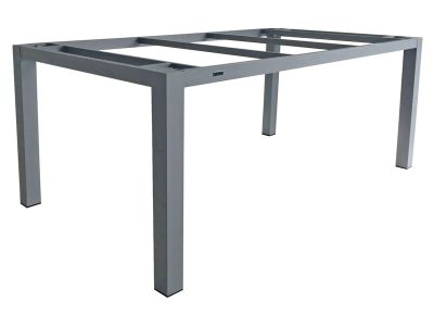 ZEBRA Alus, Tischgestell Aluminium palladium mit Platte, 180x100 cm