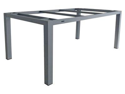 ZEBRA Alus, Tischgestell Aluminium palladium mit Platte 210x100 cm