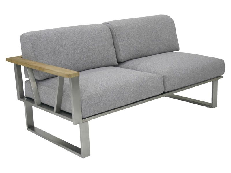 ZEBRA BELVEDERE, 2-Sitzer Sofa, Armlehne links