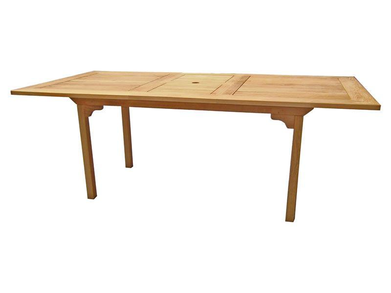 ZEBRA BRASILIA Gartentisch ausziehbar 160/210x100 cm