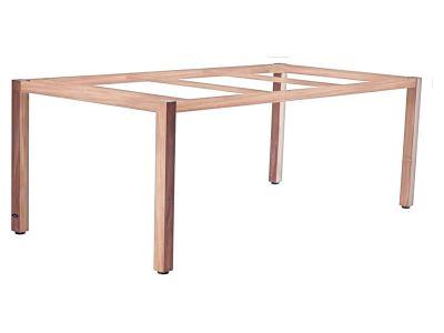 ZEBRA Corpus, Tischgestell Teak mit Platte, 180x100 cm