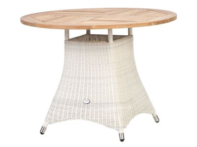 ZEBRA Loomus Tisch rund, Geflecht Loom, silkwhite