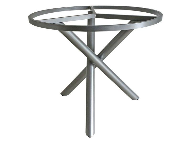 ZEBRA Mikado, Tischgestell Aluminium mit Platte, Ø 110 cm