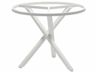 ZEBRA Mikado, Tischgestell Aluminium weiß mit Platte, Ø 110 cm