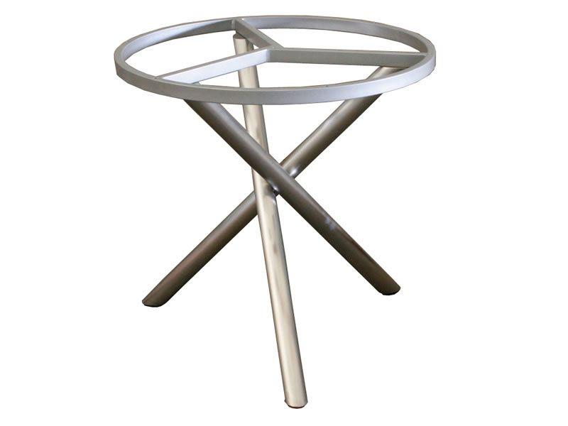 ZEBRA Mikado, Tischgestell Edelstahl mit Platte, Ø 110 cm