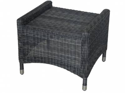 ZEBRA Novus Hocker, Rundgeflecht grey black