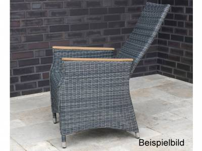 ZEBRA Novus Relax Sessel, Rundgeflecht grey black