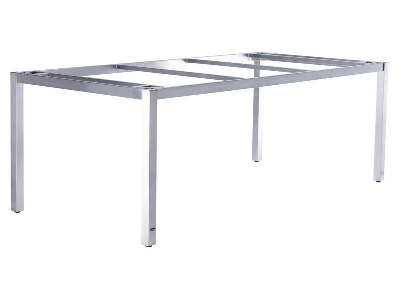 ZEBRA Opus, Tischgestell Edelstahl mit Platte, 210x100 cm