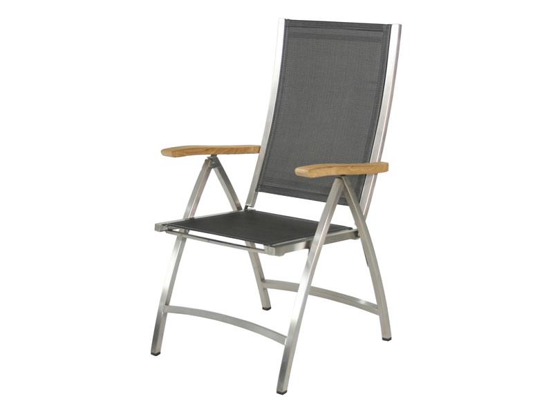 Gartenmobel Kunststoff Bunt : ZEBRA Pontiac Hochlehner Sessel argenta, klappbar  Gartenmöbel