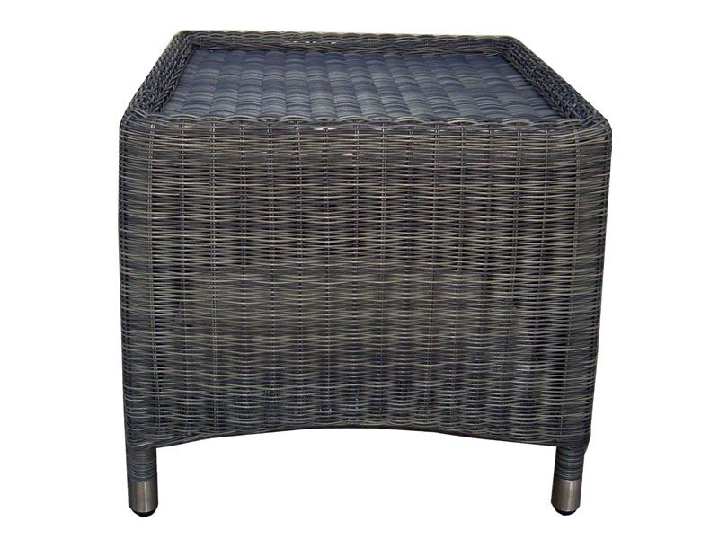 ZEBRA Status Hocker, Geflecht Loom, grey-black