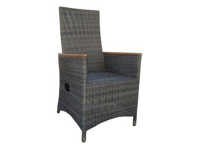 ZEBRA Status Sessel Relax, verstellbare Rückenlehne, grey-black