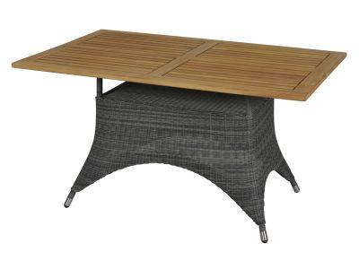 ZEBRA Status Tisch 140x90x75 cm, Geflecht Loom, grey-black