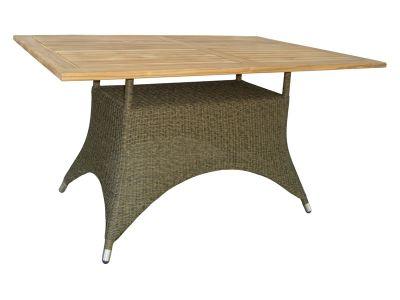 ZEBRA Status Tisch 140x90x75 cm, Geflecht Loom, taupe
