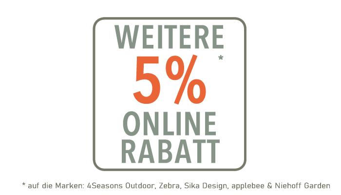 5% Online Rabatt
