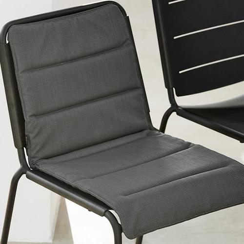 cane line copenhagen gartenstuhl stapelbar lava grau. Black Bedroom Furniture Sets. Home Design Ideas