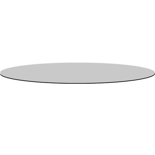 Glasplatte Ø 80 cm