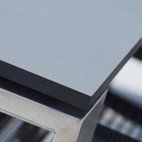 210x100 cm, Grau, Kompaktlaminat