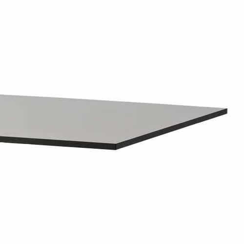 Eckig, 75x75cm, Grau, Kompaktlaminat