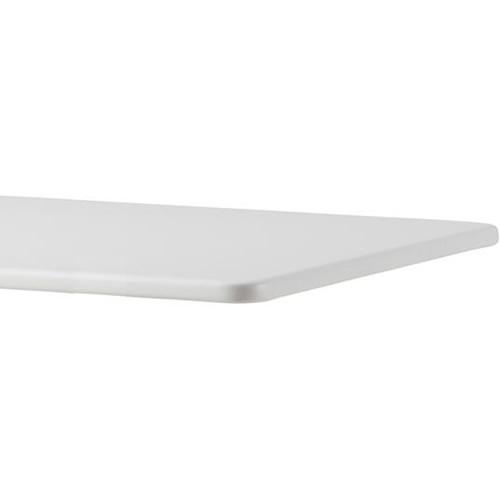 Eckig, 75x75cm, Weiß, Kompaktlaminat