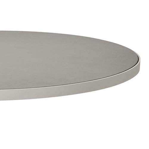 Ø 60cm, Aluminium Weiß/Keramik hellgrau